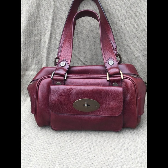 norway mulberry bayswater small grained leather tote 7bd69 b4c91  promo  code vintage maroon mulberry doctor bag satchel handbag e2c6e 2657f c6521f770b249